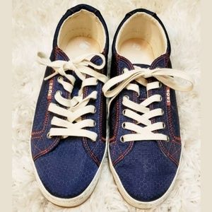 TAOS Women's Glyde GLY-12844 Blue Canvas Lace-up